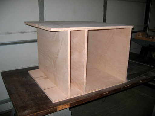 Base cabinet after the glue up.