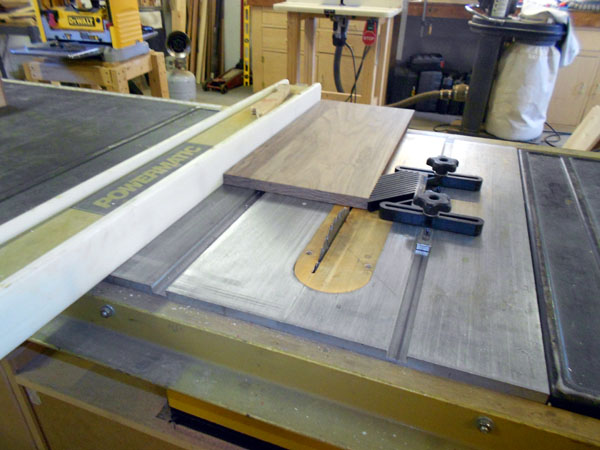 Ripping board to correct overall width.