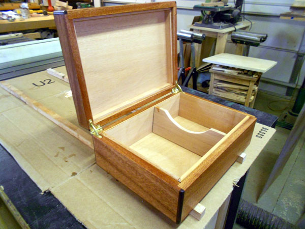 Finished box shown opened.