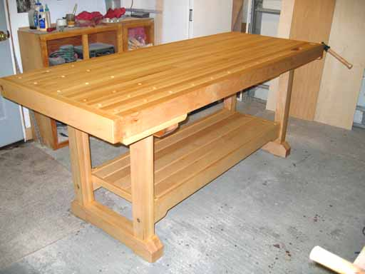 Completed bench prior to installing vices.