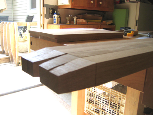 Band sawn bevels on leg bottoms.