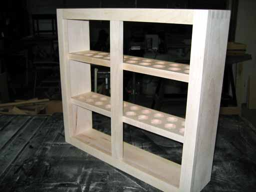 Display Cabinet with shelves and center stile.