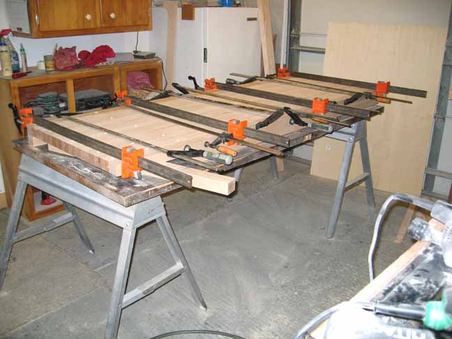 3/4 view uf glued up top slab.