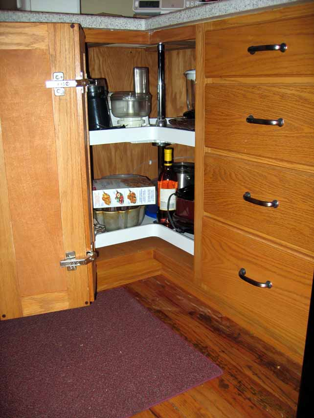 Kitchen cabinet project page for Bottom corner kitchen cabinets