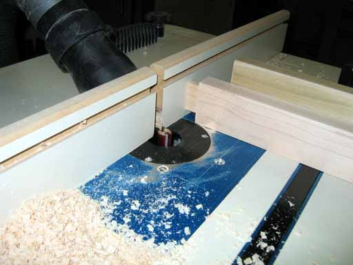 Cutting the tenons on the router table.